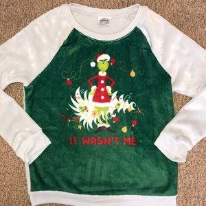 Cozy Holiday Grinch It Wasn't Me Sweatshirt
